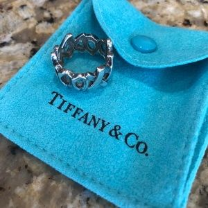 Tiffany & Co. XOXO sterling silver ring